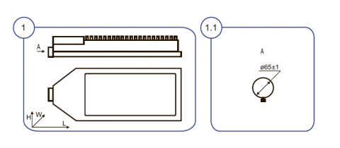 Светильник ДКУ40У - схема фото