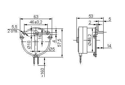 Электродвигатели ДСМ2-П-220 - схема фото