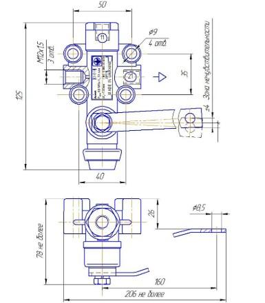 Схема Клапана А01.04.000-01 с сепаратором - фото