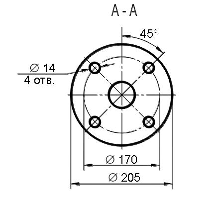 Схема габаритных размеров маслоуказателя МС-2