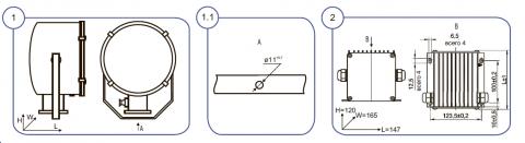 Прожекторы ГО-02- - схема монтажа