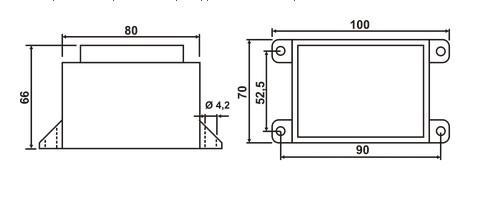 Схема трансформатора ТН 75/32 G - фото