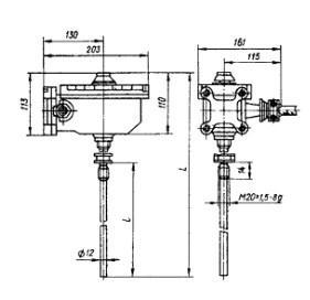 Терморегулятор ТУДЭ-6М1 (Р) - фото схемы