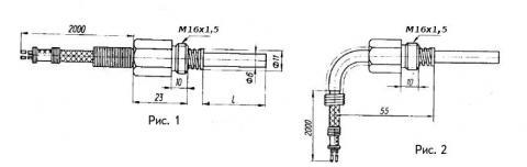 Схема габаритов преобразователя ТХК-2488