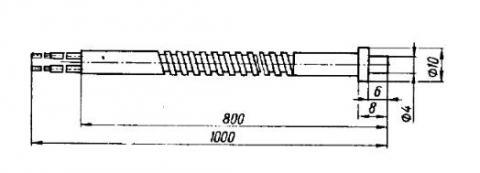 Схема габаритов преобразователя ТХК-2688