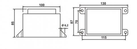 Схема трансформатора ТН 96/59 G - фото