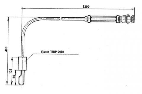Схема габаритов преобразователя ТВР-0688
