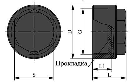 Схема заглушки под ниппель