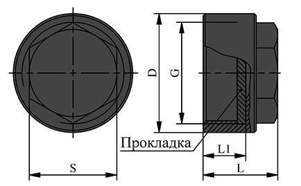 Схема заглушки испытательной