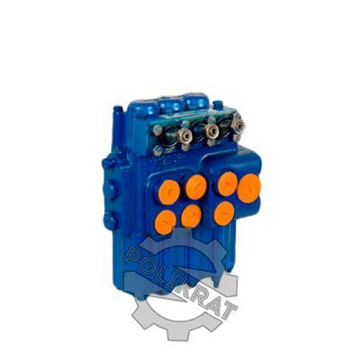 Фото гидрораспределителя трехзолотникового Р80-3/1-222 Г