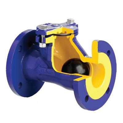 Клапан обратный канализационный чугунный фланцевый арт. 400 ZETKAMA - фото